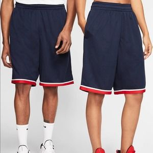 Nike Navy Blue/Red Classic Basketball Shorts NEW M